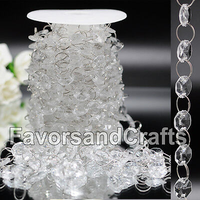 30FT Wedding Acrylic Garland Diamond Crystal Bead Chandelier Hanging Decoration](Pearl Garland)