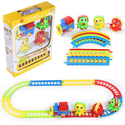 12 Pcs Octopus Musical Animal Friend Train And Track Play Set Kids Toddler Gift