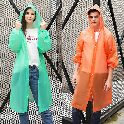 Yellow Rain Poncho (US NEW Men Women Waterproof Jacket PE Hooded Raincoat Rain Coat Poncho)