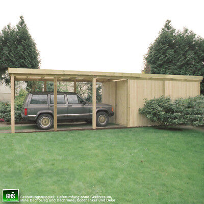 doppel carport 610 cm breit 5 9m tief kiefer. Black Bedroom Furniture Sets. Home Design Ideas