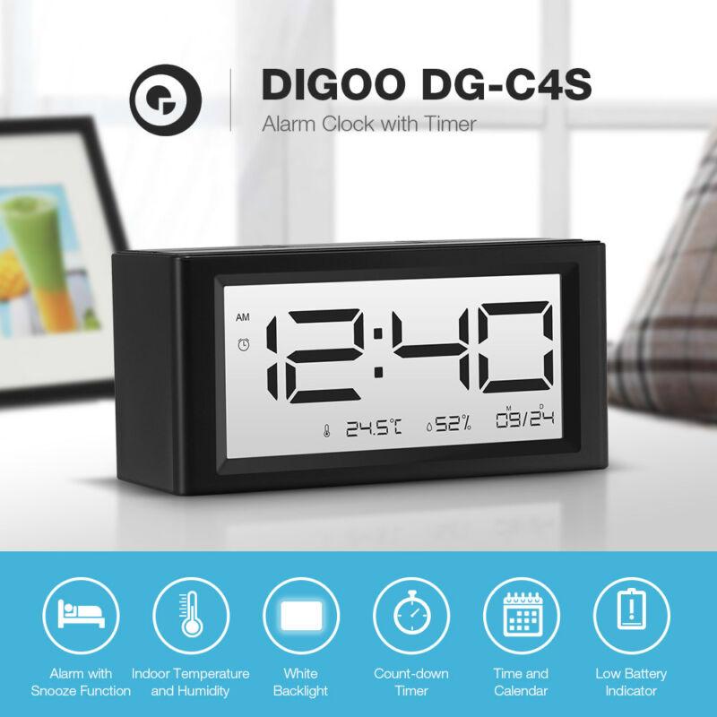 Digoo DG-C4S Snooze Function Temperature Backlight Day Night Display Alarm---