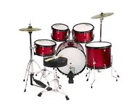 5 Piece Drum Kit w/ Hi-Hats, Cymbal and Stool