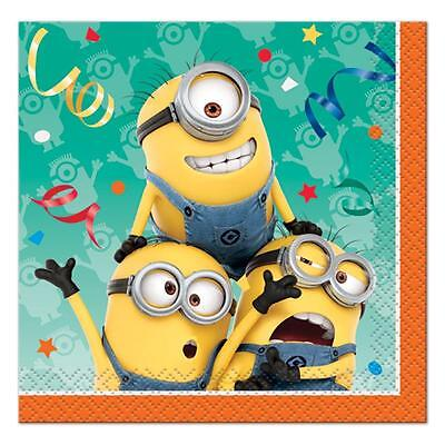 Despicable Me Minion Dessert Beverage Napkins 16 Count Birthday Party Supplies - Minions Dessert