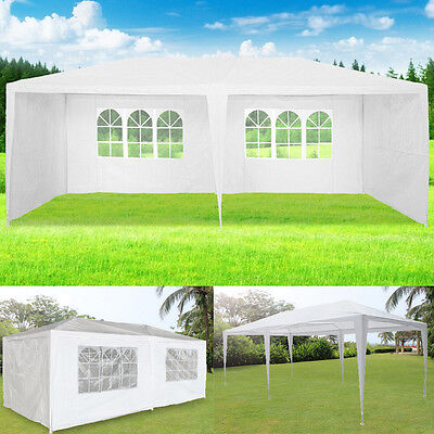 3m x 6m White Waterproof Outdoor Garden Gazebo Party Tent Marquee 2 SUPPORT BEAM