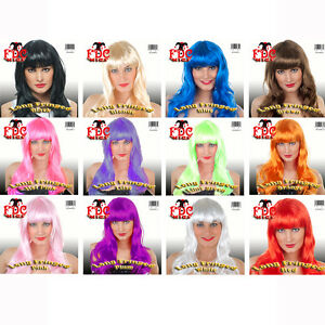 LONG-FRINGED-WIG-RED-BROWN-BLACK-WHITE-BLUE-BLONDE-PINK