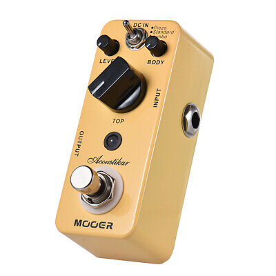 MOOER Acoustikar Acoustic Guitar Simulator Effect Pedal True Bypass with 3 Q0L5