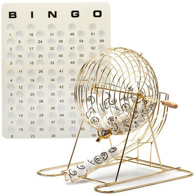 Professional Bingo Game Set. with Large Bingo Cage, Bingo Balls, Masterboard - Bingo Game Set