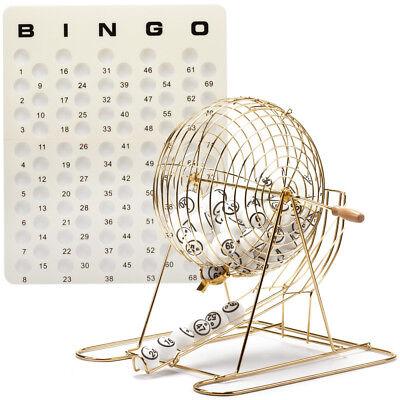 Bingo Set (Professional Bingo Game Set. with Large Bingo Cage, Bingo Balls,)