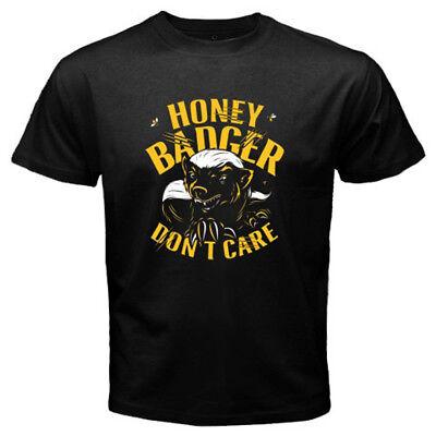 New Honey Badger Dont Care Mens Black T Shirt Size S 3Xl