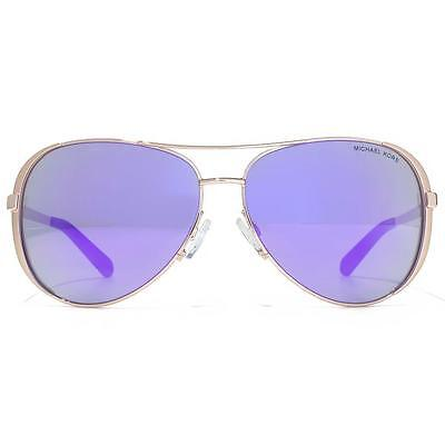 NWT Michael Kors Sunglasses MK 5004 10034V Rose Gold/Mirrored Purple 59 mm (Rose Mirrored Sunglasses)