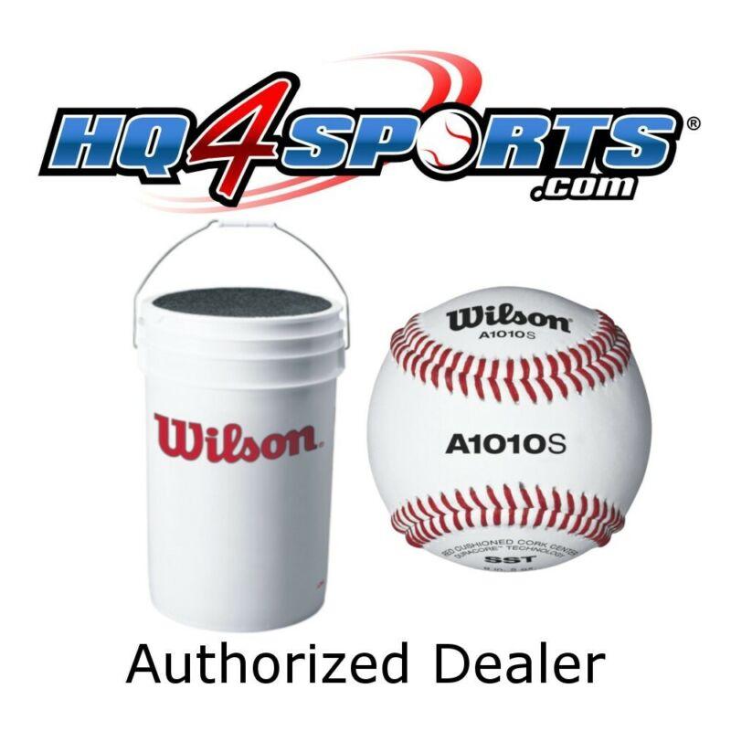 3 Dozen Wilson A1010S Baseballs + Bucket - WTA1098X