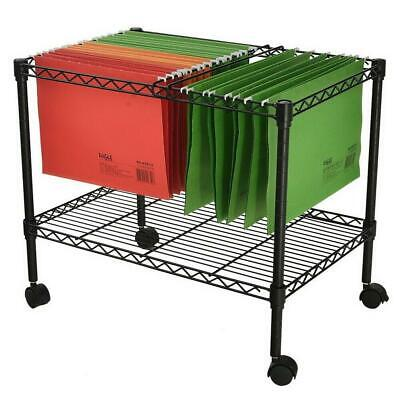 Single Tier Metal Rolling Mobile File Cart 23.6 X 12.6 X 18 Office Supplies