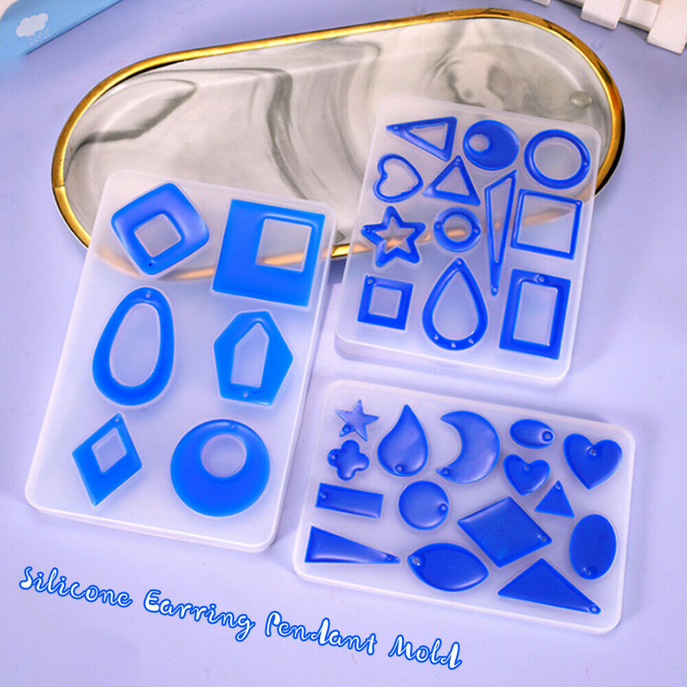 Silicone Earring Pendant Mold Necklace Jewelry Resin Epoxy M