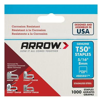 Genuine T50 Arrow Staples 505ss1 Stainless Steel 516 1000 Pack