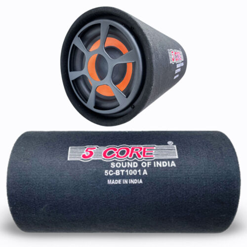 """5 Core 10"""" 1250W Powered Active Car Subwoofer Bass Tube In built Amplifier 10-01"""