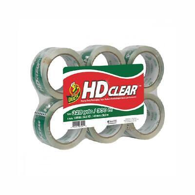 Duck HD Clear Heavy Duty Packing Tape Refill, 6 Rolls, 1.88 6-Pack,