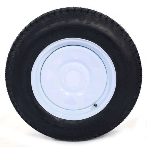 """ST205/75D15 F78-15 205/75-15 15"""" 1820 Lbs 5 lugs on 4.5""""  Trailer Tires & Rims"""