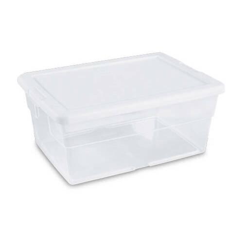 Sterilite #16448012 16QT Storage Box/WHT Lid