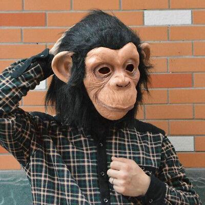 Cosplay Adult Costume Gorilla Monkey Animal Head Full Latex Mask Halloween Toys (Gorilla Mask Costume)