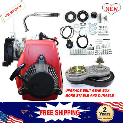 Gas Petrol Motorized Bike Engine Motor 4-Stroke W/ BELT Gear 49CC 51KPH Autosale