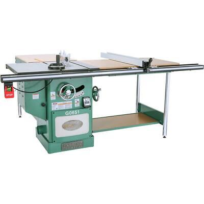 Grizzly G0651 10 3 Hp 220v Heavy Duty Cabinet Table Saw With Riving Knife