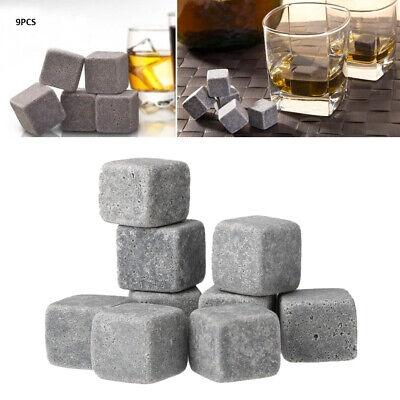 9x Whiskey Whisky Ice Stones Steine Vodka Gin Bier Wein Kühler Cooler Cube K7V1