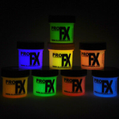 Glow in the DARK Daytime Visible & UV Reactive 1oz x 8 COLOR PAINT - Glow Paint