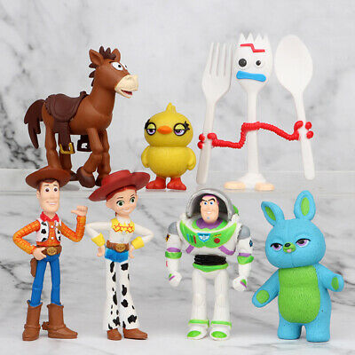 Toy Story Buzz Lightyear Woody Bulleye 7 PCS Action Figure Cake Topper Gift Toy (Cinderella Gifts)