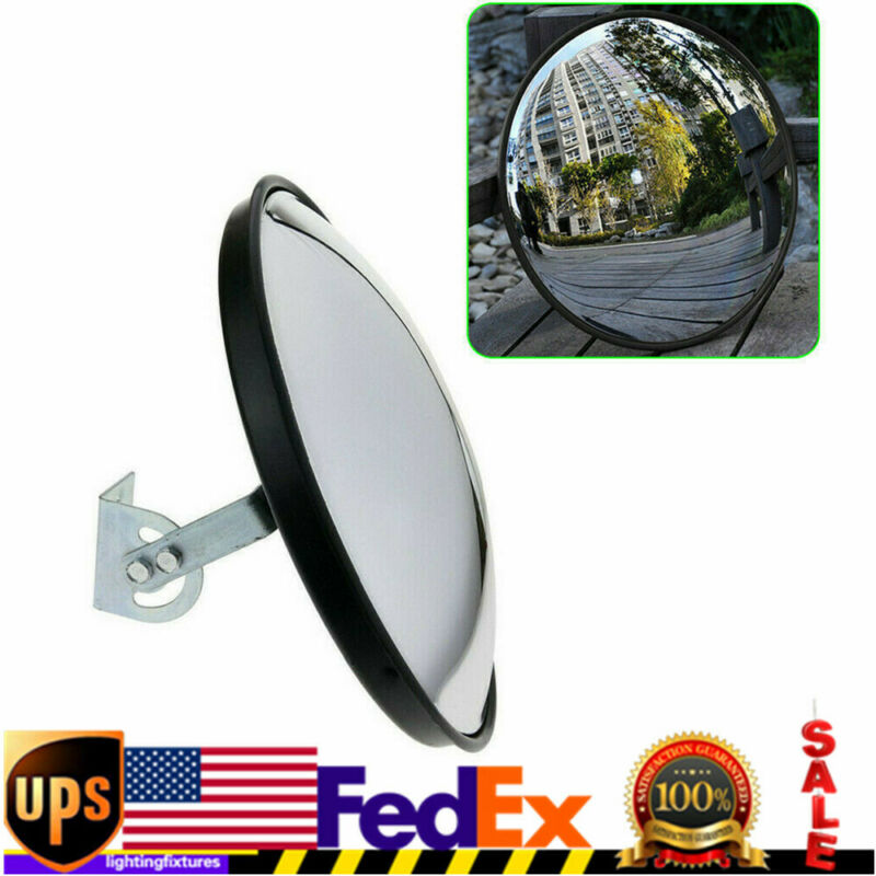 Traffic Convex Mirror Wide Angle Safety Mirror Driveway Outdoor Security US SALE