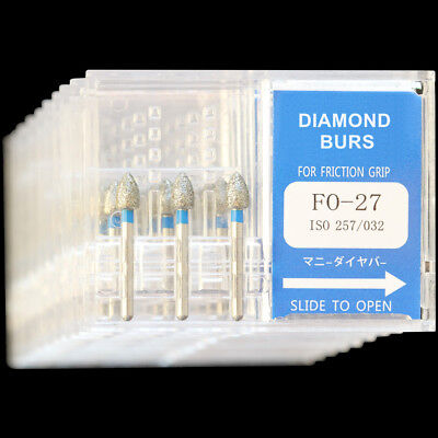 10 Boxes Fo-27 Mani Dia-burs Fg 1.6mm Dental High Speed Handpiece Diamond Bur