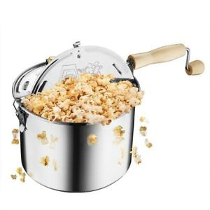 Used Great Northern Popcorn Original Stainless Steel Stove Top 6-1/2-Quart Popcorn Popper Condtion: USED, 6 Quart, Si...