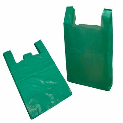 Plastic Carrier Bags Vest Style Bags Green Lage Supermarkets Polythene Bags