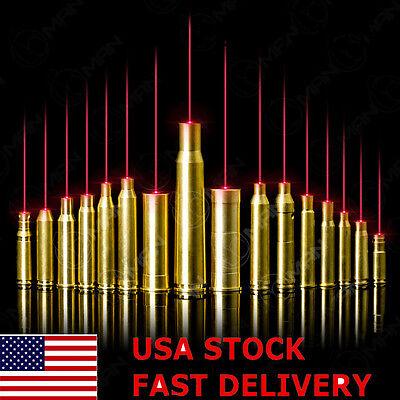 Us Tactical Red Laser Bore Sight Brass Caliber Cartridge Boresighter Set 4 Hunt