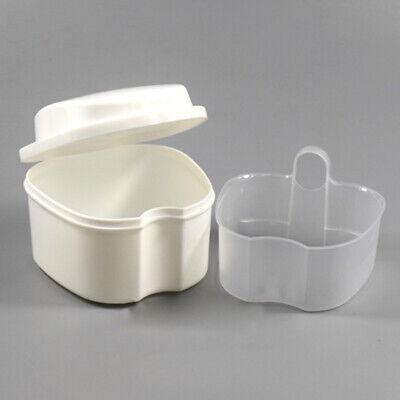 Denture Orthodontic Retainer Box False Teeth Bath Storage Strainer Container