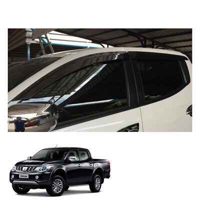 Mitsubishi Pickup L200 Triton 15 - 2017 fit Wind Deflector Weather Shield 4 Door for sale  Shipping to Canada
