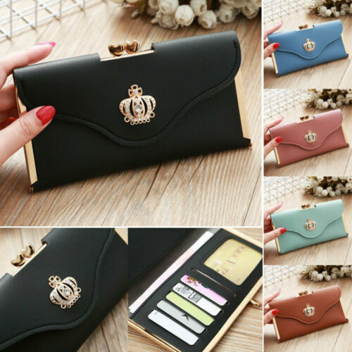 women s clutch leather wallet long card