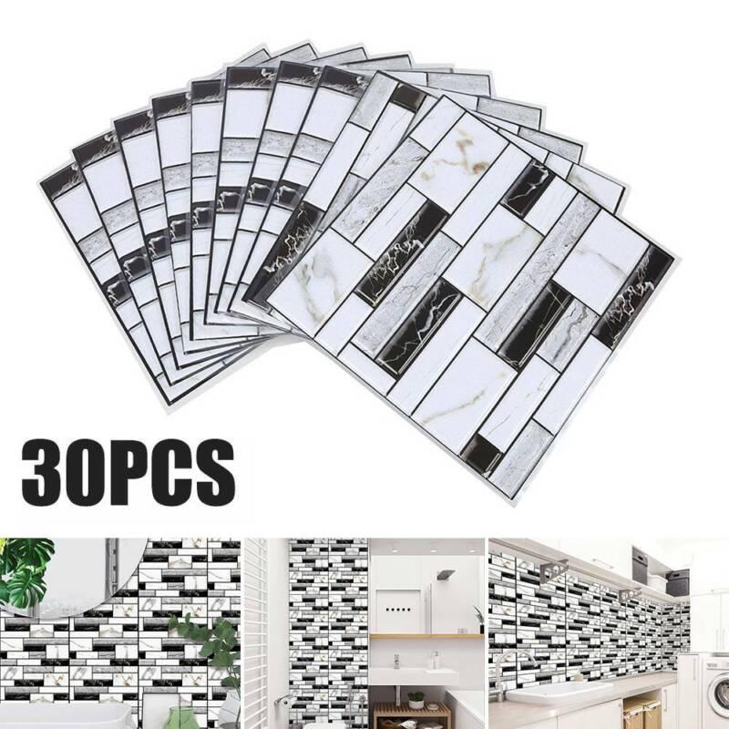 Home Decoration - 30PCS 3D Brick Wall Tile Sticker Self-adhesive Waterproof Panels Wallpaper Decal