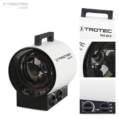 TROTEC TDS 20 R Calefactor eléctrico portátil, Aerotermo, Generador con 3 kW