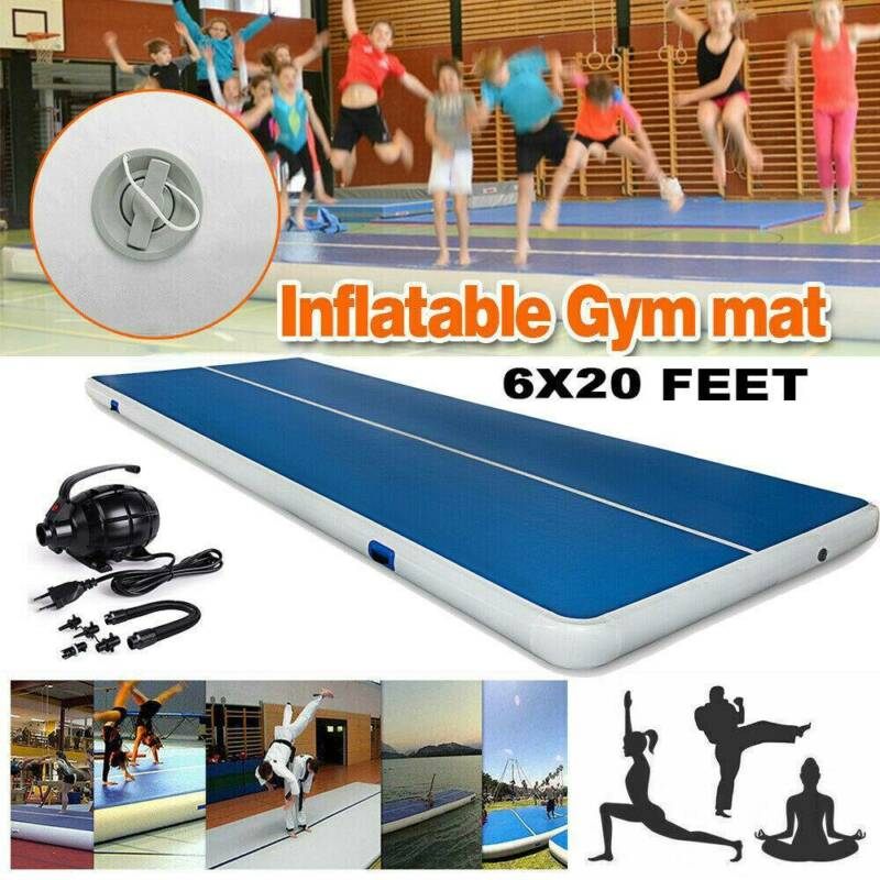 6x20 ft Air Track Floor Home Gymnastics Tumbling Mat GYM W/