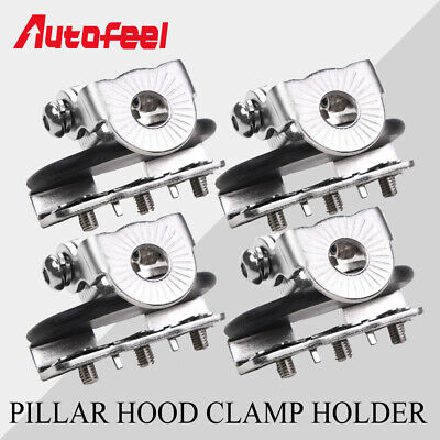 4PCS A Pillar Hood Clamp Holder LED Work Light Bar Universal Mount Bracket Truck