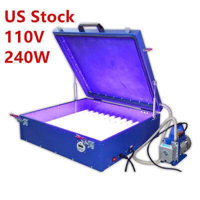 "USA,110V Vacuum Exposure Unit 24""x26"" Precise Screen Printing Compressor Outside for sale  USA"