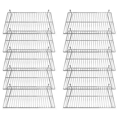 Gridwall Flat Display Shelf 24 X 12 Chrome 10 Pcs
