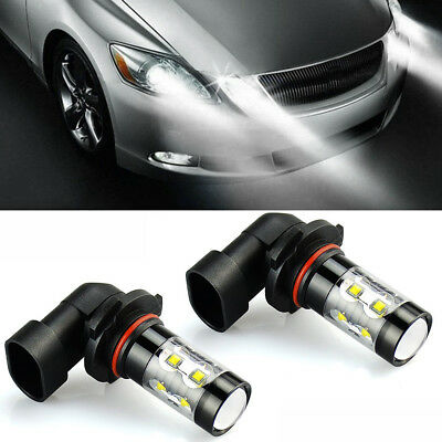 2x Best 6000K White 100W LED 9006 HB4 Projector Fog Driving Light Bulbs
