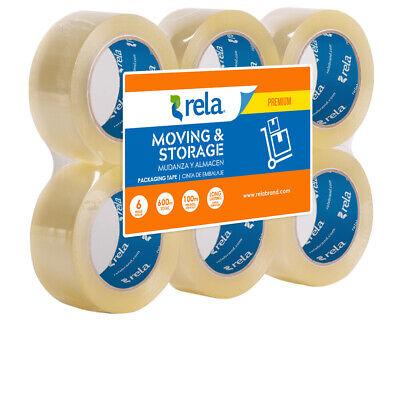Rela Moving Storage Premium Clear Packaging Tape 2 X 110 Yards 6-pack