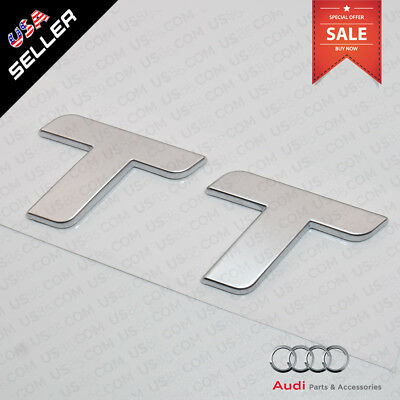 Car 3D ABS Auto Emblem Audi TT Silver Logo Sticker Rear Tail Badge Trunk 12