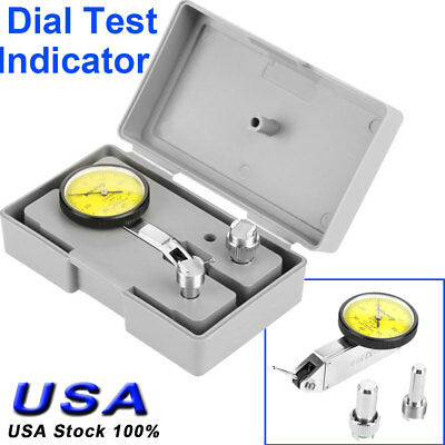 180 Precision 0.01mm Lever Dial Test Indicator Meter Tool Kit Gage W. 2 Clamp