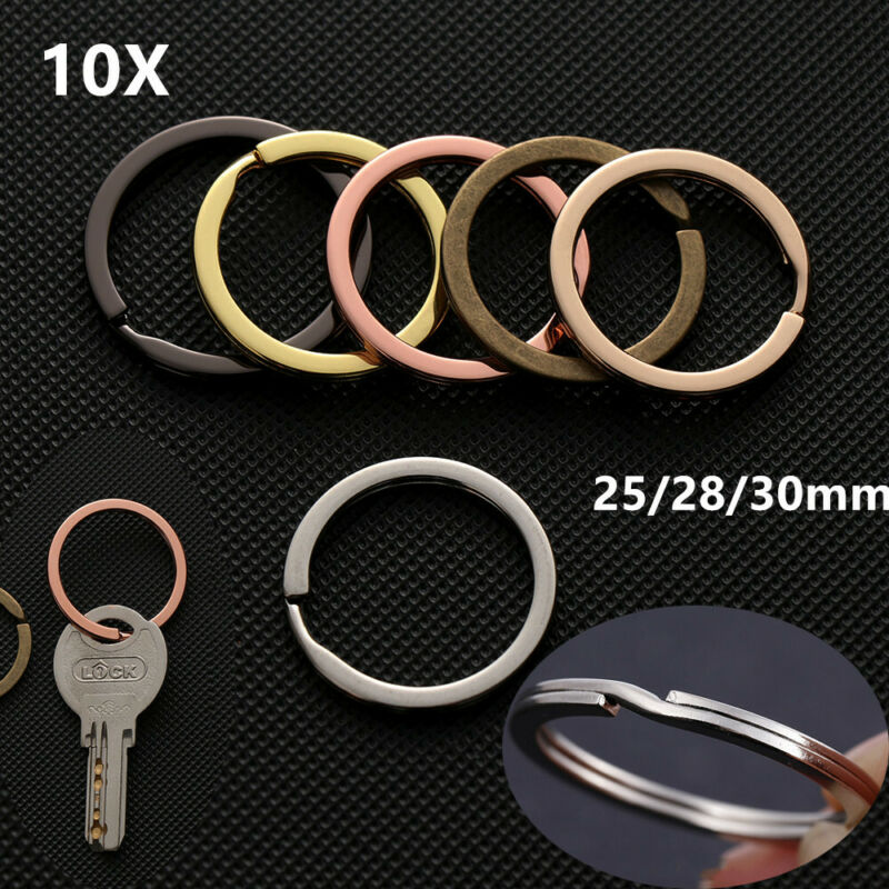 Useful Clasps Round Pocket Key Chain Stainless Steel Carabiner Split Key Ring