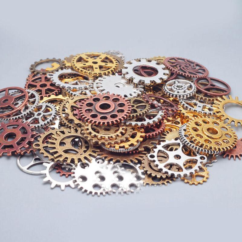 100g Gears Wheels Steampunk Wrist Watch Old Parts Steam Punk Lots of Pieces