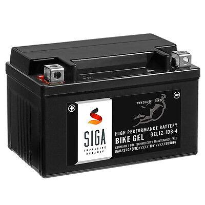 SIGA BIKE GEL Motorrad Batterie YTZ10-S 12V 9Ah 220A/EN GEL12-10B-4 YTZ10S 50901