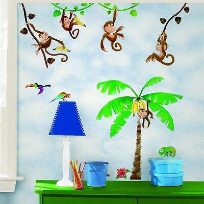 (Monkey Business in the Jungle Peel & Stick Appliques RMK1676SCS)